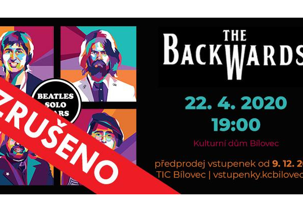 The Backwards: World Beatles Show v programu BEATLES SOLO YEARS - ZRUŠENO